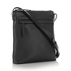 Betty Jackson.Black - Black leather leopard print shopper bag