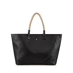 Betty Jackson.Black - Designer black soft leather rope tote bag