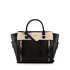 Star by Julien Macdonald - Black block colour double zip tote
