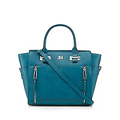 Star by Julien MacDonald - Designer turquoise zip logo plate tote bag