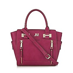 Star by Julien Macdonald - Dark pink double zip front small grab bag