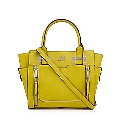 Star by Julien Macdonald - Lime double zip front small grab bag