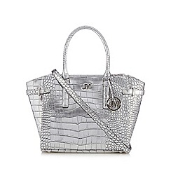 Star by Julien Macdonald - Designer silver mock croc winged grab bag