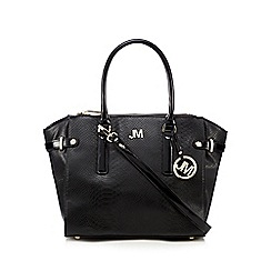 Star by Julien Macdonald - Black lizard winged three part exterior tote bag