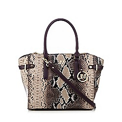 Star by Julien Macdonald - Pink snakeskin-effect three part exterior tote bag