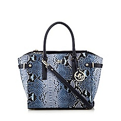 Star by Julien Macdonald - Blue snakeskin tote bag