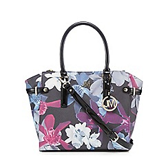 Star by Julien Macdonald - Black floral double zip tote bag