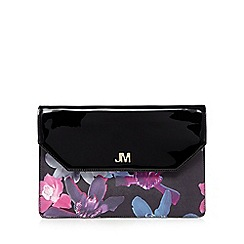 Star by Julien Macdonald - Black floral oversized clutch bag