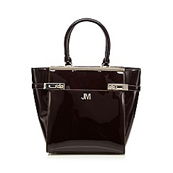Star by Julien Macdonald - Dark red patent double lock tall grab bag