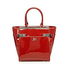 Star by Julien Macdonald - Dark orange patent double lock tall grab bag