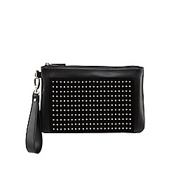 Star by Julien Macdonald - Black studded pocket clutch bag