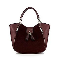 Star by Julien Macdonald - Dark red tasselled shoulder bag