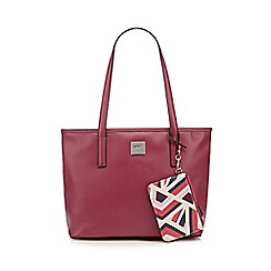 Principles by Ben de Lisi - Designer pink patent shopper bag