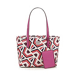 Principles by Ben de Lisi - Designer light pink geometric shopper bag