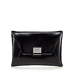 Principles by Ben de Lisi - Designer black patent envelope clutch bag