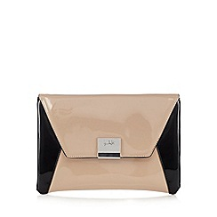 Principles by Ben de Lisi - Natural colour block envelope clutch