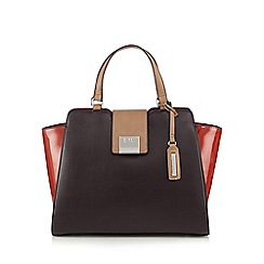 Principles by Ben de Lisi - Designer wine colour block winged large grab bag