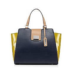 Principles by Ben de Lisi - Navy colour block winged large grab bag