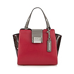 Principles by Ben de Lisi - Designer pink colour block winged small grab bag