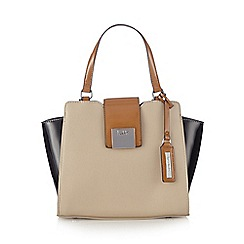 Principles by Ben de Lisi - Designer cream colour block winged small grab bag