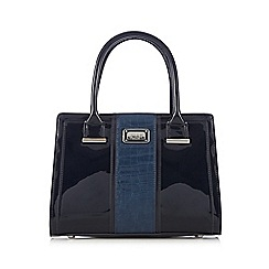Principles by Ben de Lisi - Navy patent mock croc large grab bag
