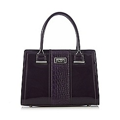 Principles by Ben de Lisi - Purple patent mock croc large grab bag