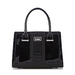 Principles by Ben de Lisi - Black patent mock croc large grab bag
