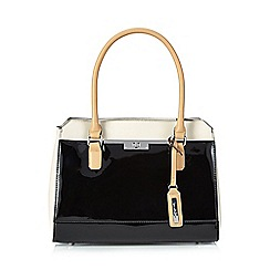Principles by Ben de Lisi - Black patent colour block grab bag