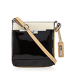 Principles by Ben de Lisi - Black patent colour block cross body bag