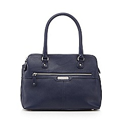 Principles by Ben de Lisi - Navy three compartment zip shoulder bag
