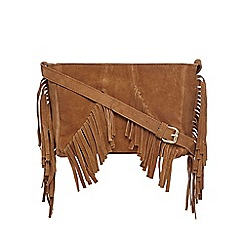 Butterfly by Matthew Williamson - Tan suede cross body bag