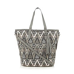 Butterfly by Matthew Williamson - Designer grey embellished shopper bag