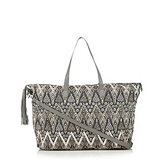 Butterfly by Matthew Williamson - Designer grey embellished weekender bag