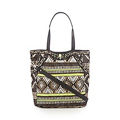 Butterfly by Matthew Williamson - Designer black aztec embellished tote bag