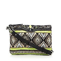 Butterfly by Matthew Williamson - Designer lime aztec embellished cross body bag