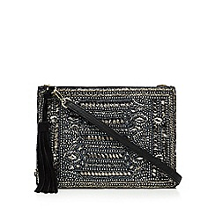 Butterfly by Matthew Williamson - Designer black suede embellished cross body bag
