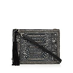 Butterfly by Matthew Williamson - Designer black suede embellished cross body bag