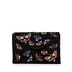 Butterfly by Matthew Williamson - Black butterfly embellished clutch bag