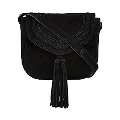Nine by Savannah Miller - Black 'Tori' suede cross body bag