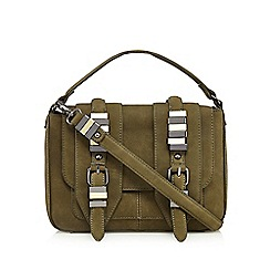 Nine by Savannah Miller - Khaki green 'Cara' satchel bag