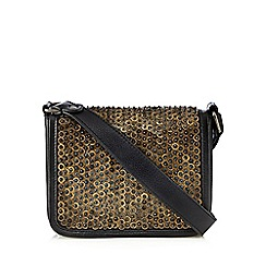Nine by Savannah Miller - Black 'Bali' leather cross body bag