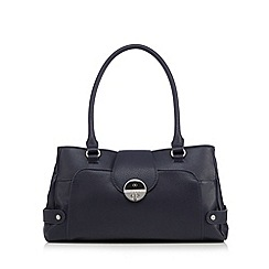 The Collection - Navy twist lock shoulder bag