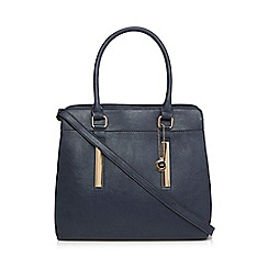 The Collection - Navy leatherette large tote bag