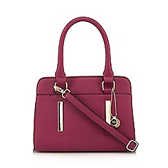 The Collection - Pink metal bar front medium tote bag