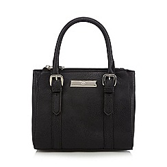 The Collection - Black double zip small grab bag