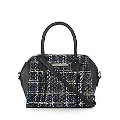 The Collection - Blue tweed bowler bag