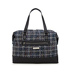 The Collection - Blue tweed weekender bag