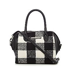 The Collection - Black checked textured grab bag