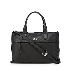 The Collection - Black leather logo plate grab bag