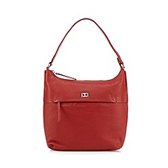 The Collection - Red leather front zip shoulder bag